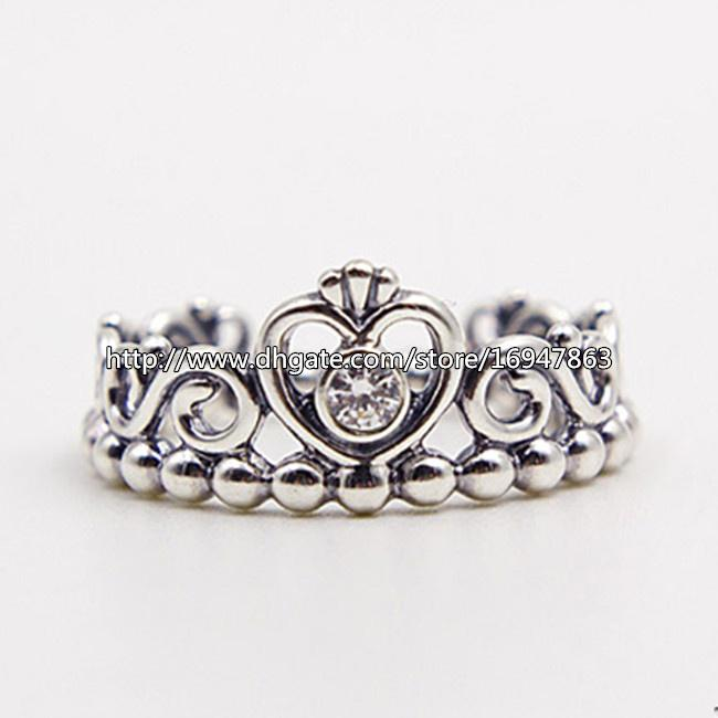 2017 New 100% S925 Sterling Silver European Pandora Style Jewelry My  Princess With Clear Cz Ring Fashion Charm Ring From Landypandora, $15.88 |  Dhgate.Com