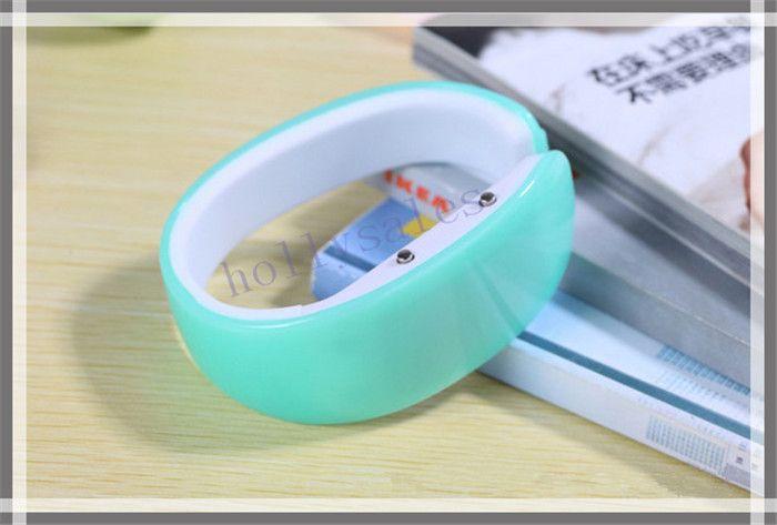Fashional bracelet wrist LED plastic watch jelly candy color sports plastic digital LED bangle bracelet watches in stock