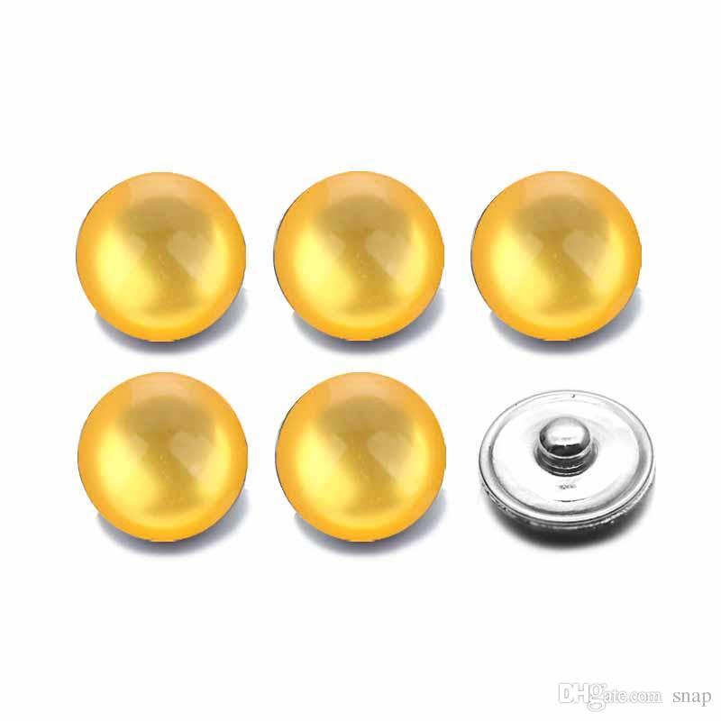 Hot Silikon 18mm Acrylharz Harz Harz Snap Button 007 Fit Charme Austauschbare Armbänder Schmuck Für Frauen Zubehör