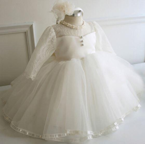fa2fcf0a781 Couture Princess Pearl And Lace Dress Baptism Or Christening Dress ...
