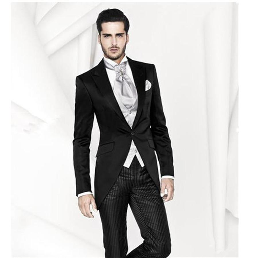 Groom Wear Business Suits Wedding Party Dress Men Jacket Pants Vest Tie Wedding Suit For Mens