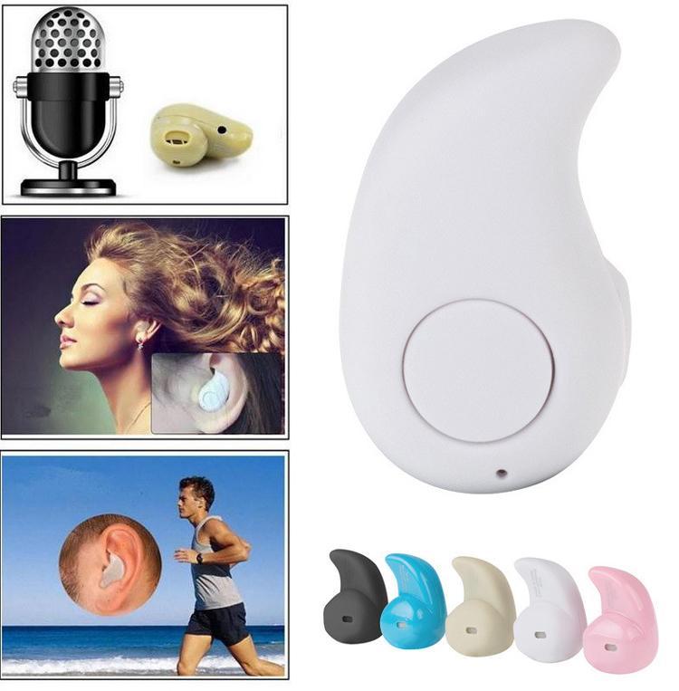 S530 Mini Spor Trendy Görünmez Kulaklık Kablosuz Bluetooth 4.0 Kulak Kulaklık Stereo Handsfree Kulaklık Tüm Telefon için w / Kutu 300 adet