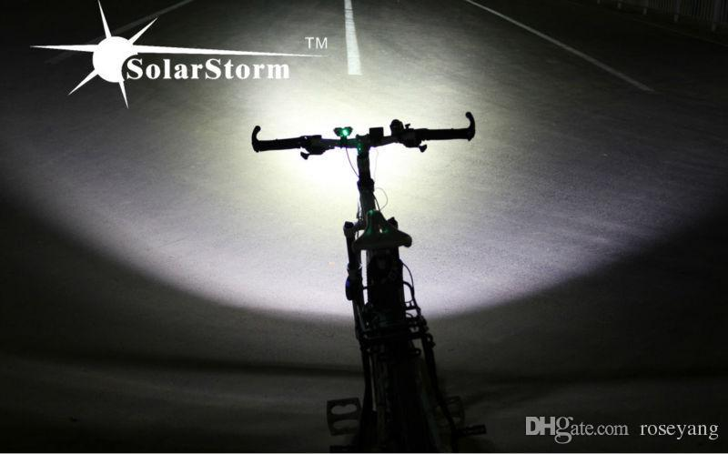 Solarstorm X2 5000Lm 2x CREE XM-L2 T6 LED Front Bicycle Bike Light Headlamp Headlight + Battery Pack + Charger