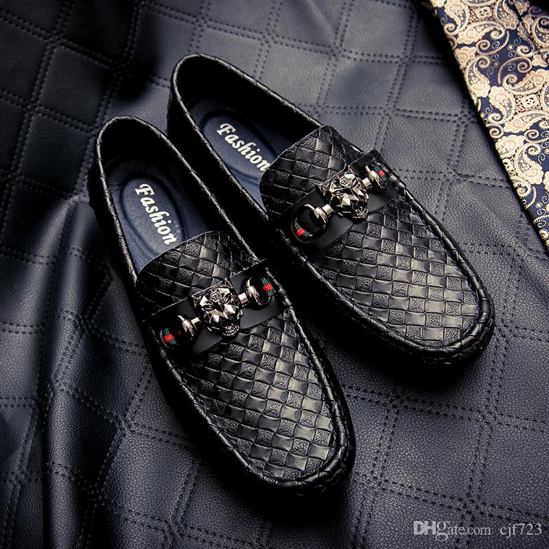 Marke Handmade Men Echtes Leder fahren Schuhe Lace-Up Wear Bequeme Männer Kleid Hochzeit Schuhe Prom Männer Loafers