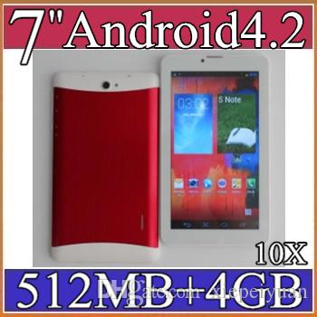 10X 7 inch 3G Phablet Android 4.2 MTK6572 Dual Core 4GB 512MB Dual SIM GPS Phone Call WIFI Tablet PC Bluetooth 3-7PB