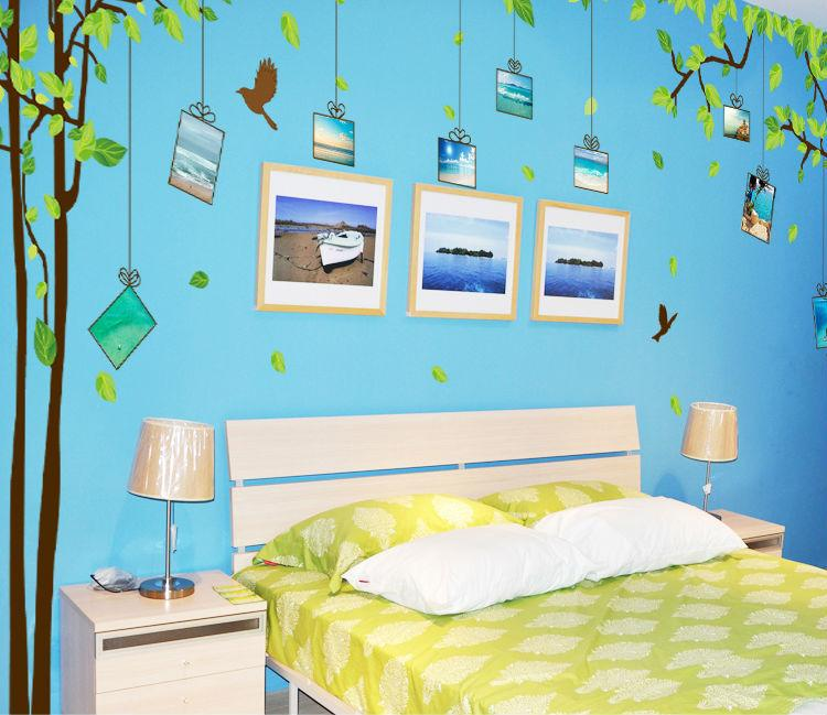 Large Family Tree Picture Photo Frame Wall Decal Living Room Bedroom Sweetest Highlighting Wall Decorative Art Murals Stickers