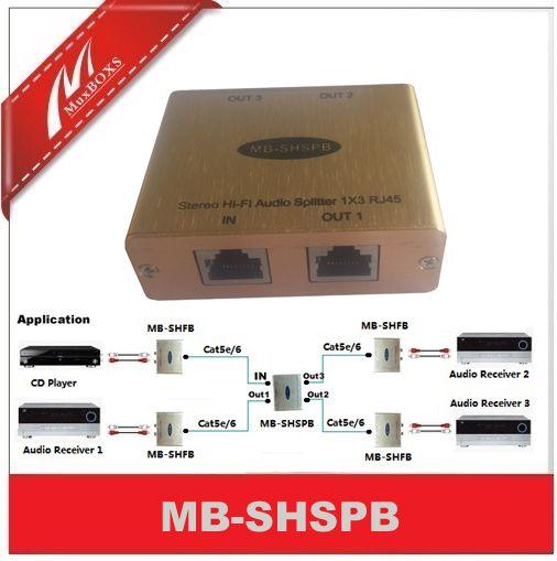 Cat5 Audio splitter RCA Audio distributor Stereo Audio Over Cat5e/6