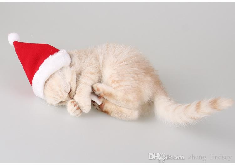 2017 Pet Accessories Cat Dog Santa Hat Scarf Set Christmas Clothes New Year and Christmas Pet Apparel Costume