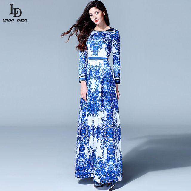 Luxury High Quality 2016 Designer Runway Maxi Dress Spring Women ...
