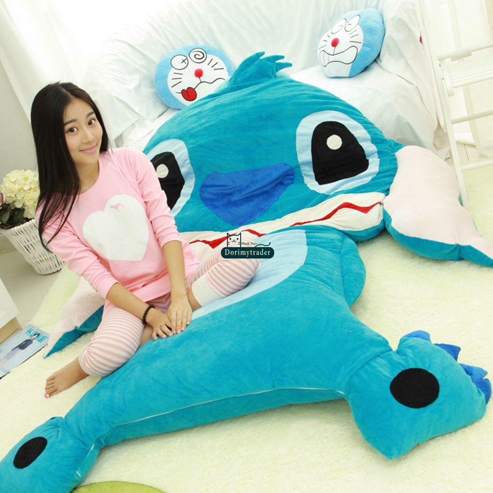 Dorimytrader 200cm X 220cm Anime Stitch Beanbag Soft Plush