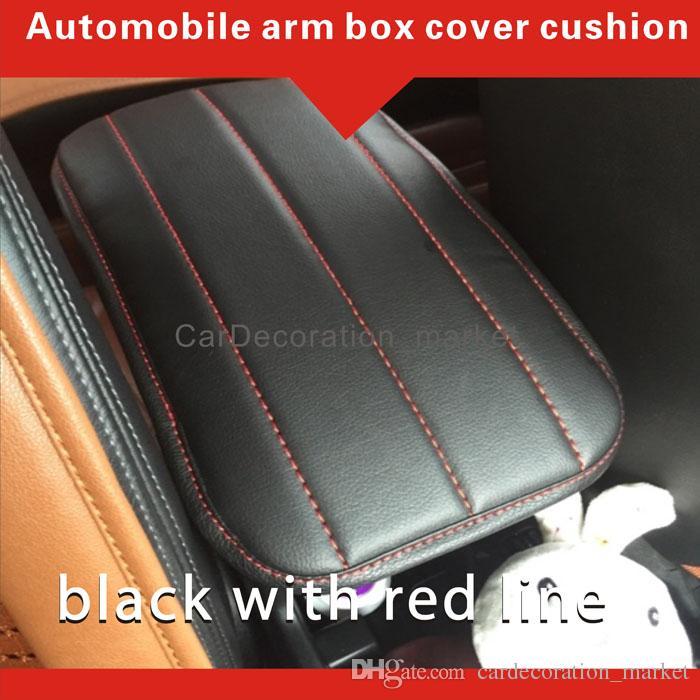 Moda iç aksesuar dekorasyon prado 2.7L kol dayama örtüsü yastık, prado 3.5L Araç merkezi Konsol kutusu kapak pedi ön araba koltukları arasında