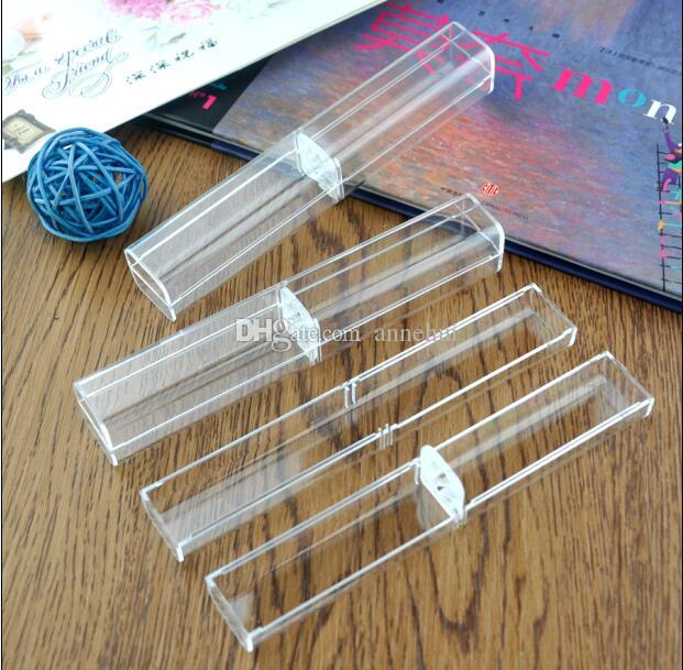 Wholesale Factory direct sale for crystal pen pencil case clear gift ballpoint pen box School stationery pen supplies case