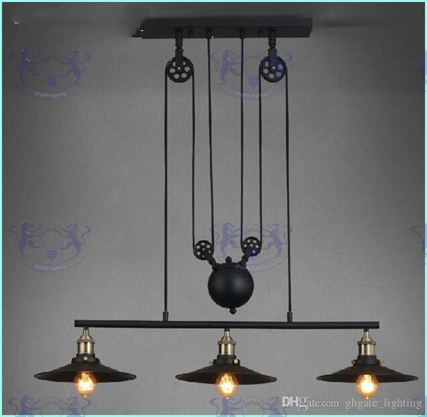Loft America Country Pulley Lifting Pendant Lights Creative Industrial Vintage Pendant Lamp Adjustable/Contractile Home Lighting