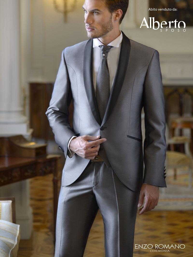 2015 Silver Grey Mens Wedding Suits Tuxedos Shawl Lapel Best Mens ...