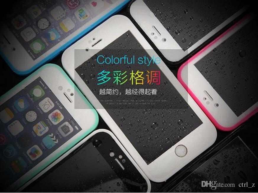 Pour iPhone 6 6s plus 100% scellé Étanche Résistant à l'eau Écran Complet Corps Protégez Doux TPU Gel Front Back Case