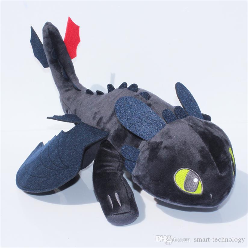 40cm 33cm 22cm Cómo entrenar a tu dragón de peluche de juguete desdentado furia de la noche muñeca de la felpa suave puede elegir el tamaño