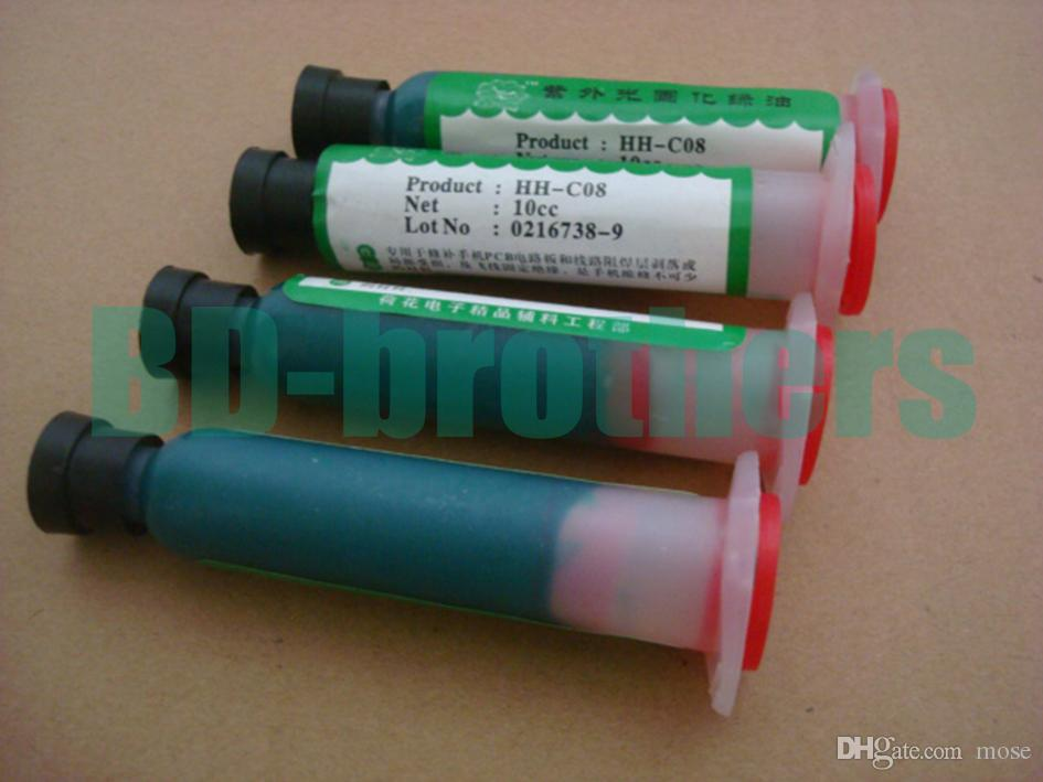 10cc HH-C08 UV Curing Green Oil Flux Paste for PCB Circuit Protection Paint