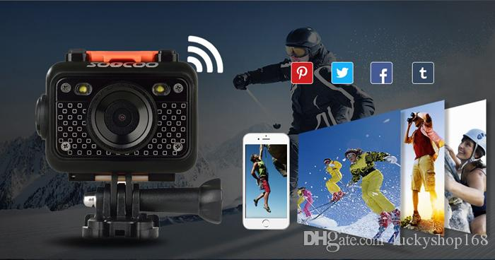 Оригинал SOOCOO S60 60M Водонепроницаемый Спорт DV SOOCOO SJ6000 WiFi Экшн-камера 12MP Full HD 1080 P 30FPS 2.0