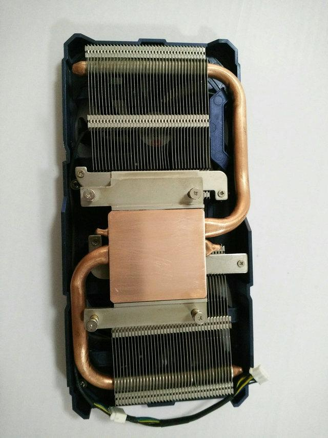 New Original for Leadtek GTX560TI graphics radiator two heat pipe copper bottom double fan wirh heat sink pitch 51*61MM