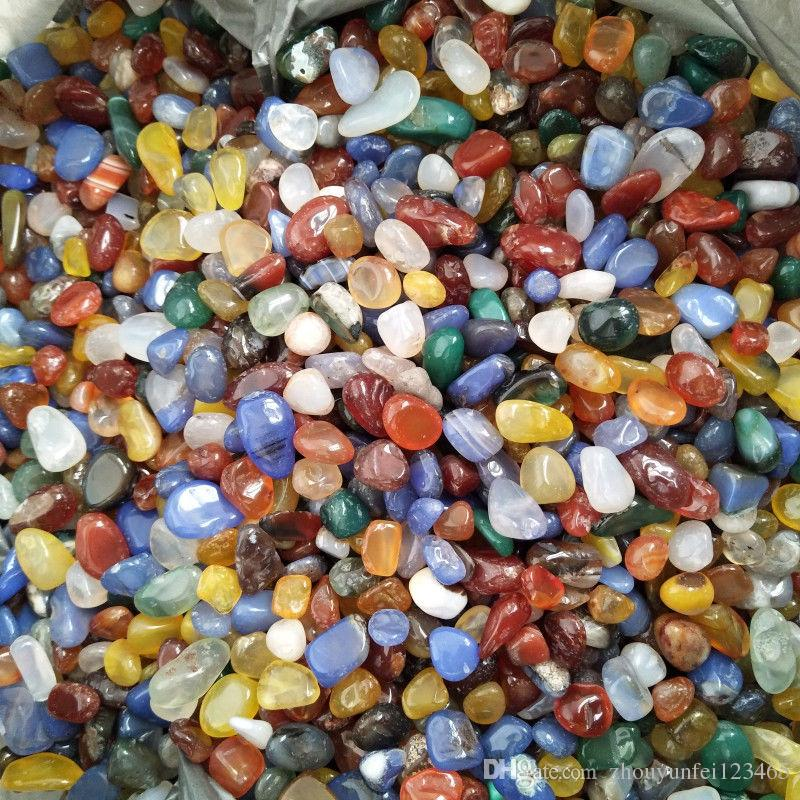 200g Natural Genuine Tumbled Gemstone Multi Color Fancy Jasper India Agate Rondelle Colorful Rock Mineral Agate for chakra healing reiki