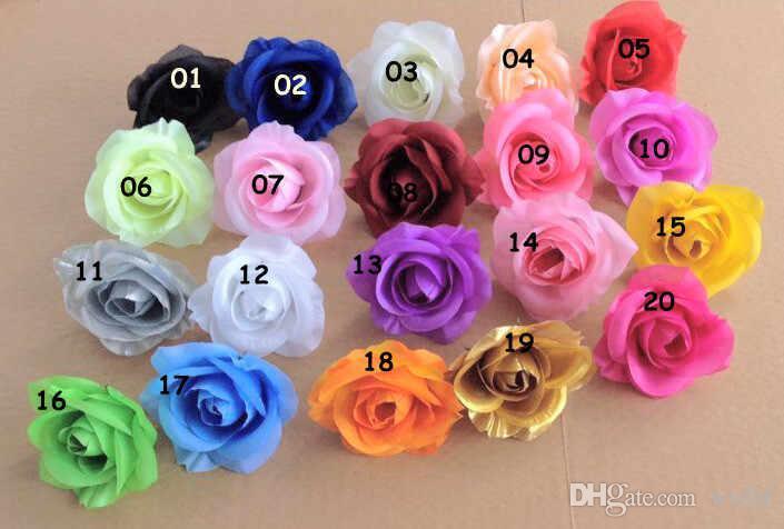 Bestseller Bloemhoofden 100 P kunstmatige zijde Camellia Rose Fake Peony Flower Head 7--8cm voor bruiloft thuis decoratieve flowewrs