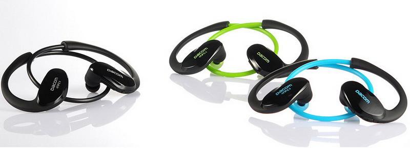 2016 Новый Dacom Спортсмен Bluetooth-гарнитура Беспроводные Спортивные Наушники Громкой Связи Стерео Музыка Ушной Крючок Наушники Fone De Ouvido с Микрофоном NFC