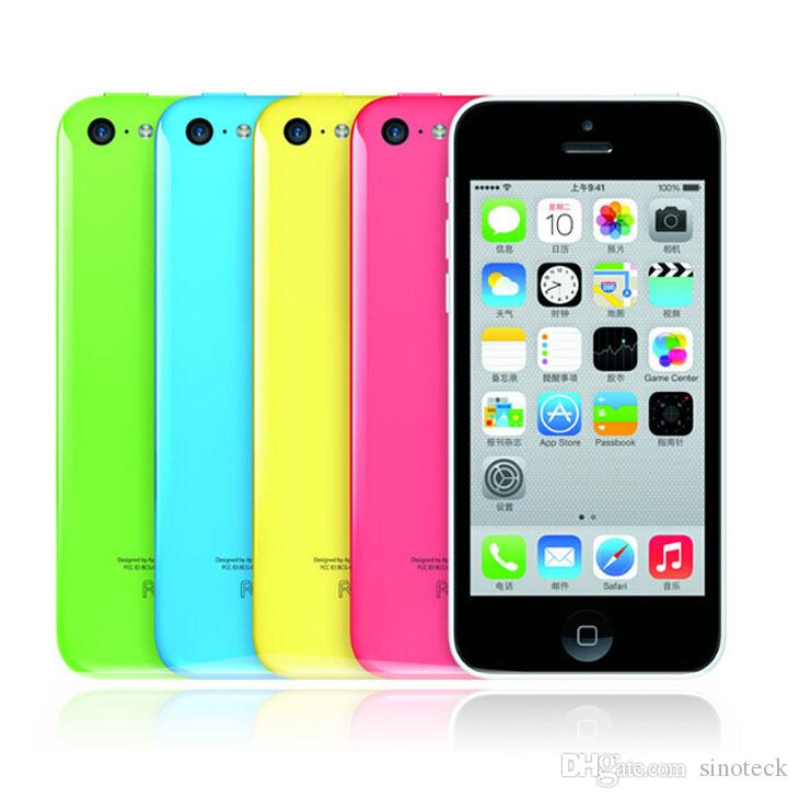 Remis à neuf Téléphones Apple iPhone 5C iOS9 Véritable Smartphone origine Mobile 4.0 '' Retina 3G WCDMA Unlocked Dual Core US Version 8 16 32G DHL