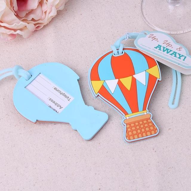 44b5a6fa39a7 Wholesale- 10pcs/Lot Travel Wedding Favors Up, Up & Away Hot Air Balloon  Luggage Tag Wedding Baggage Tags Bridal Shower FREE SHIPPING