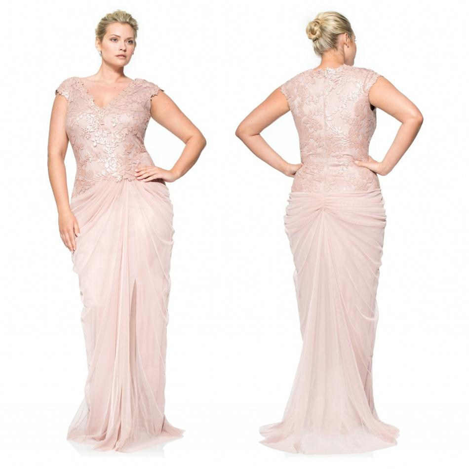 Blush Plus Size 2015 Mermaid Mother Of The Bride Dresses With ...