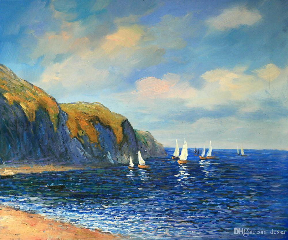 2019 impression oil painting for sale claude monet for Paesaggi marini dipinti