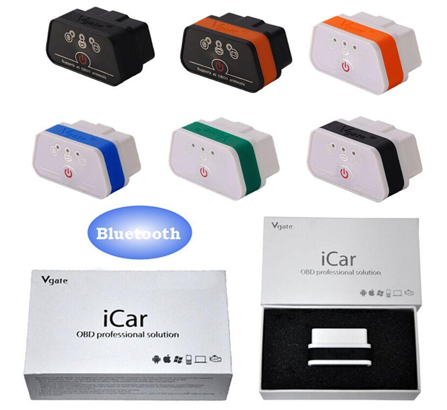 Ursprüngliche ELM327 Bluetooth ICar 2 Eigendiagnose OBDII BT Detektor Vgate Icar2 OBD Elm327 Bluetooth OBD2 Professionelle Lösung
