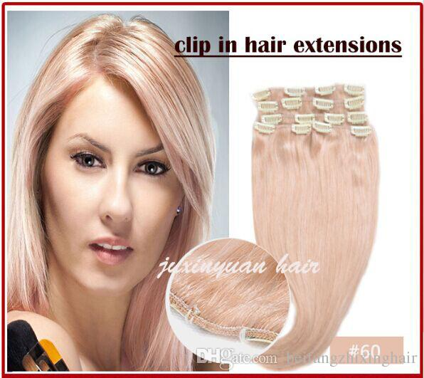 7a 100gpc 100 Real Human Hairbrazilian Hair Clips In Extensions
