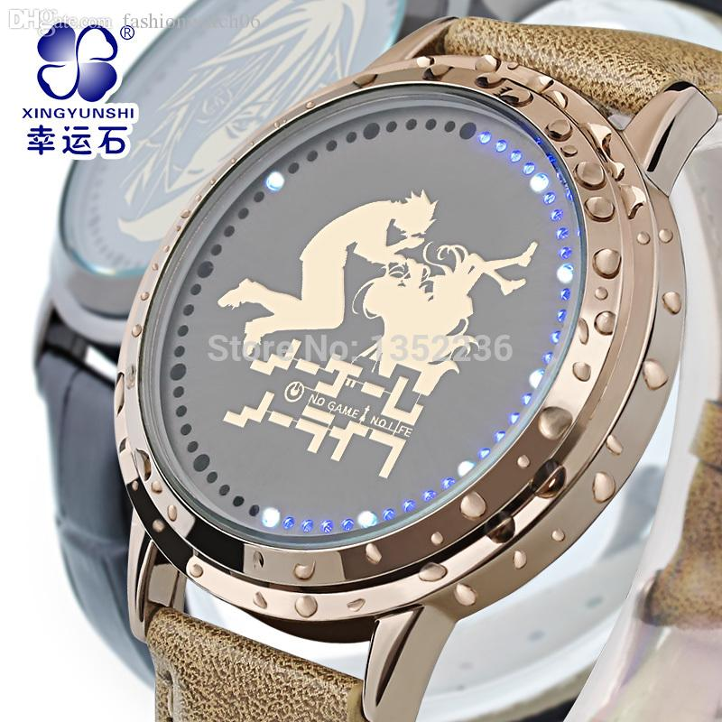 Wholesale Anime No Game Life Watch The Gift To Daughter Sora Kong Bai Waterproof Touch Led Clock Royal Boat Online