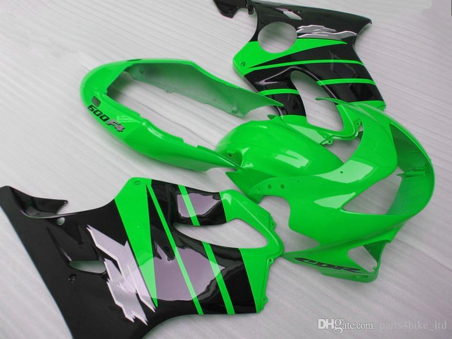 Verschiedene Art Einspritzungs-Form-Körperreparaturteile für Honda-Verkleidung CBR 600 F4 1999 2000 grüne Verkleidungskits CBR600 F4 99 00 CRBU