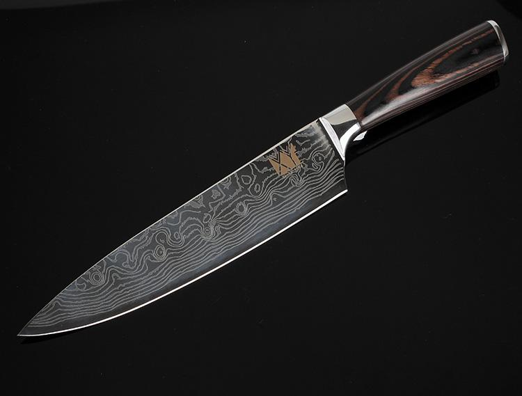 High Quality 8inch Utility Chef Knives Imitation Damascus