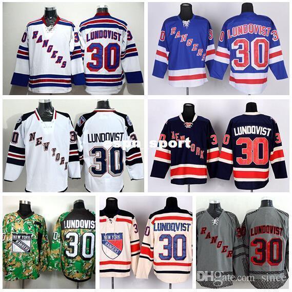 85716330c 2019 2016 New, New York Rangers 30 Henrik Lundqvist Jersey Winter Classic Stadium  Series Blue Beige White Camo Lundqvist Rangers Hockey Jer From Since, ...
