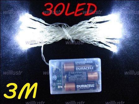 LED Julljus Fairy String Lamp Holiday Lighting 3 meter Blue Light Pure White Light Party Lighting Holiday Lights LED String