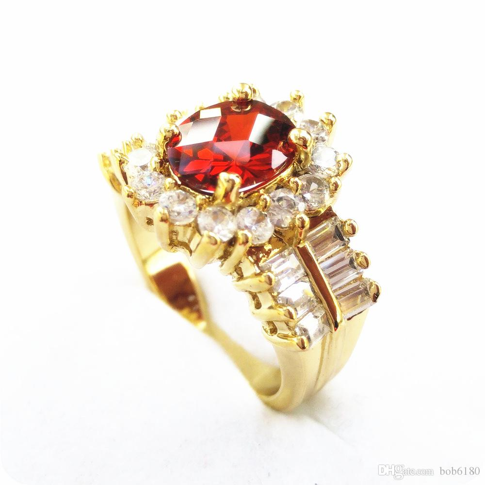 MARQUE NOUVEL EXCELLENT SUPERBE NATURE NATURELLE 2.6CT RUBY 14KT GOLD GEMSTONE RING -RY11