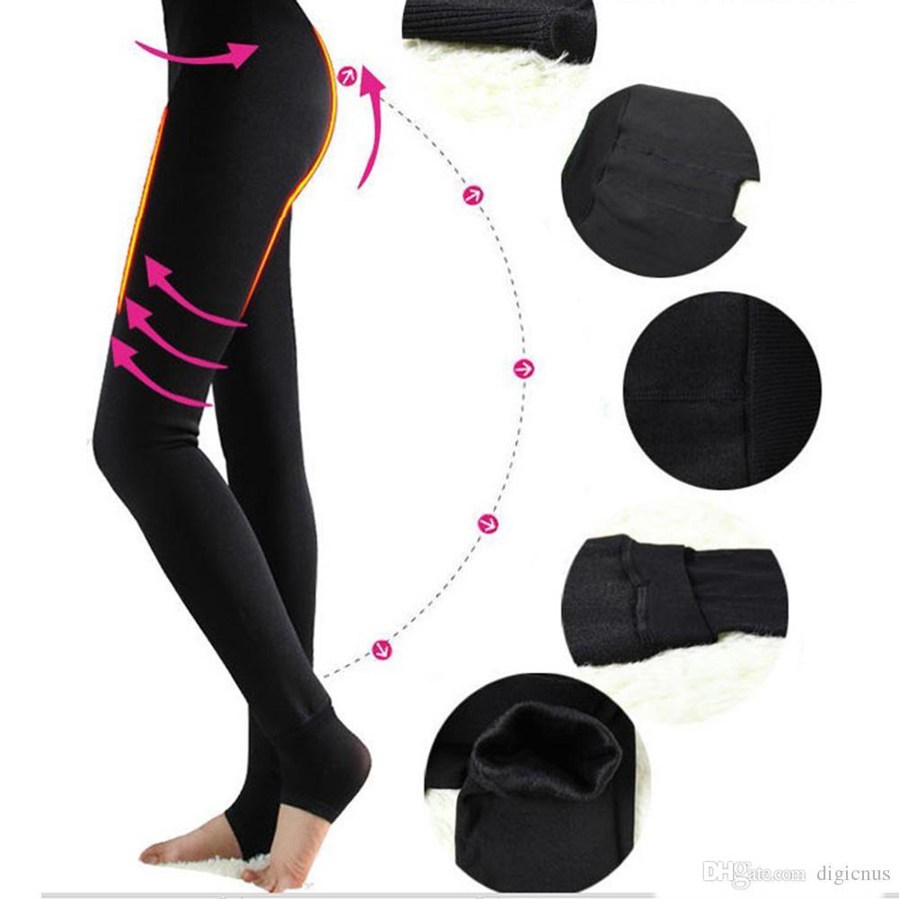 2017 S5q Women'S Sexy Leggings Thick Warm Fleece Lined Fur Winter ...