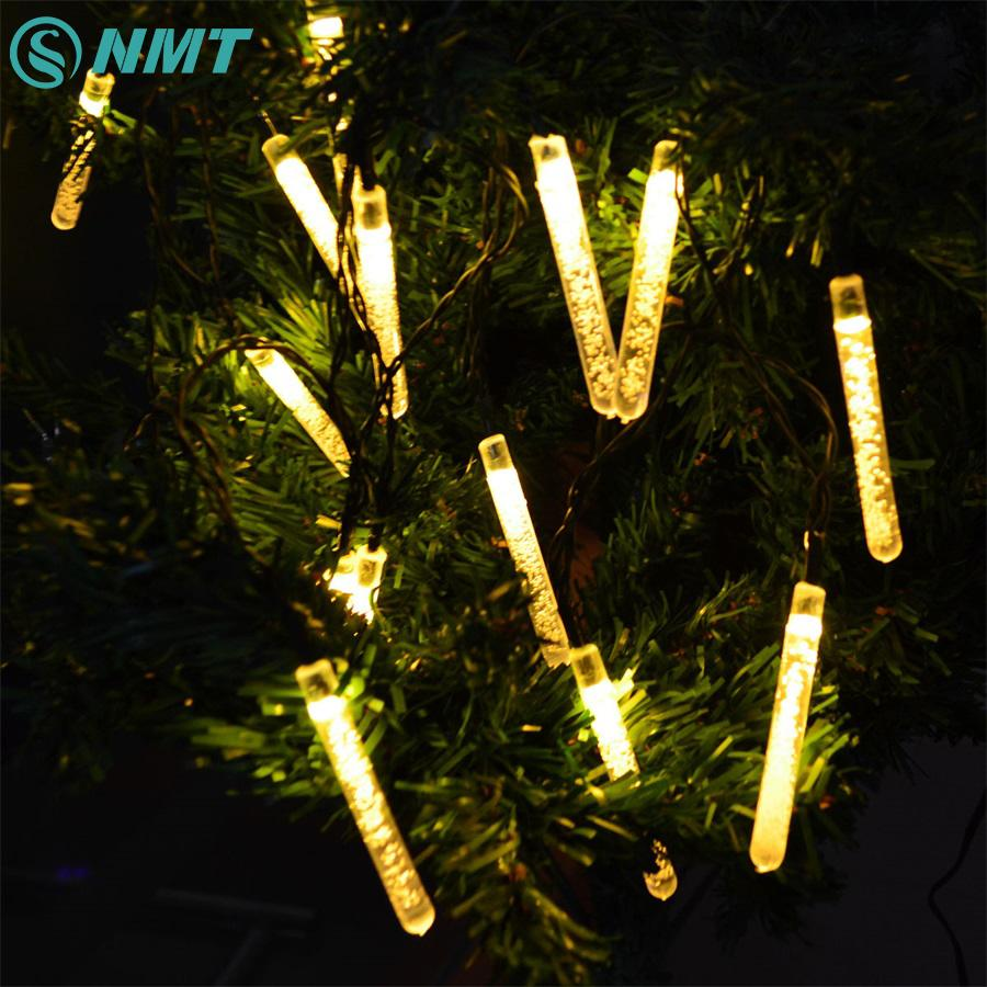 wholesale 20leds solar panel led christmas led string lights home outdoor decoration led lighting for