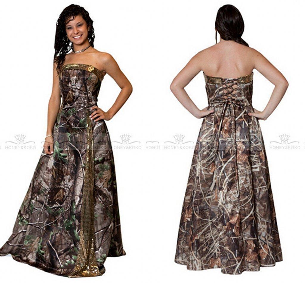 db2b24c2113 Discount 2017 Trendy Camo Wedding Dresses A Line Strapless Camouflage  Bridal Gowns Gold Sequined Custom Made Plus Size Wedding Gown Vestidos De  Novia ...