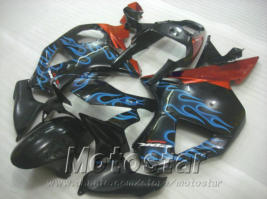 Stampaggio a iniezione carene Honda cbr900rr 954 2002 2003 fiamme blu nero motobike CBR900 954RR carenatura ABS CBR954 02 03 YR16