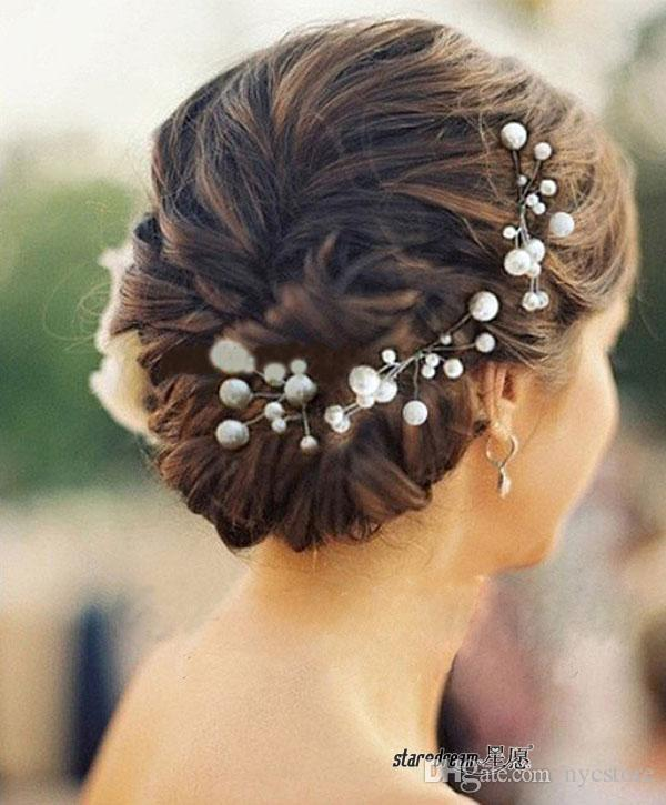 Wedding Bridal hair pins Pearl rhinestone Hair Pins Flower Crystal Hair Clips Bridesmaid 5 Styles U Pick Bridal Hair Accessories