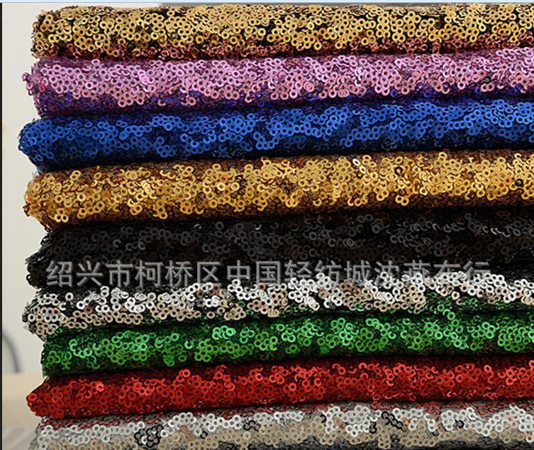 سباركلي 2016 ريال صورة مطرزة فساتين النسيج 3 ملليمتر sequines 130 سنتيمتر واسعة رخيصة نسيج متواضع صنع لحفلة موسيقية جديد وصول الأزياء الفاخرة