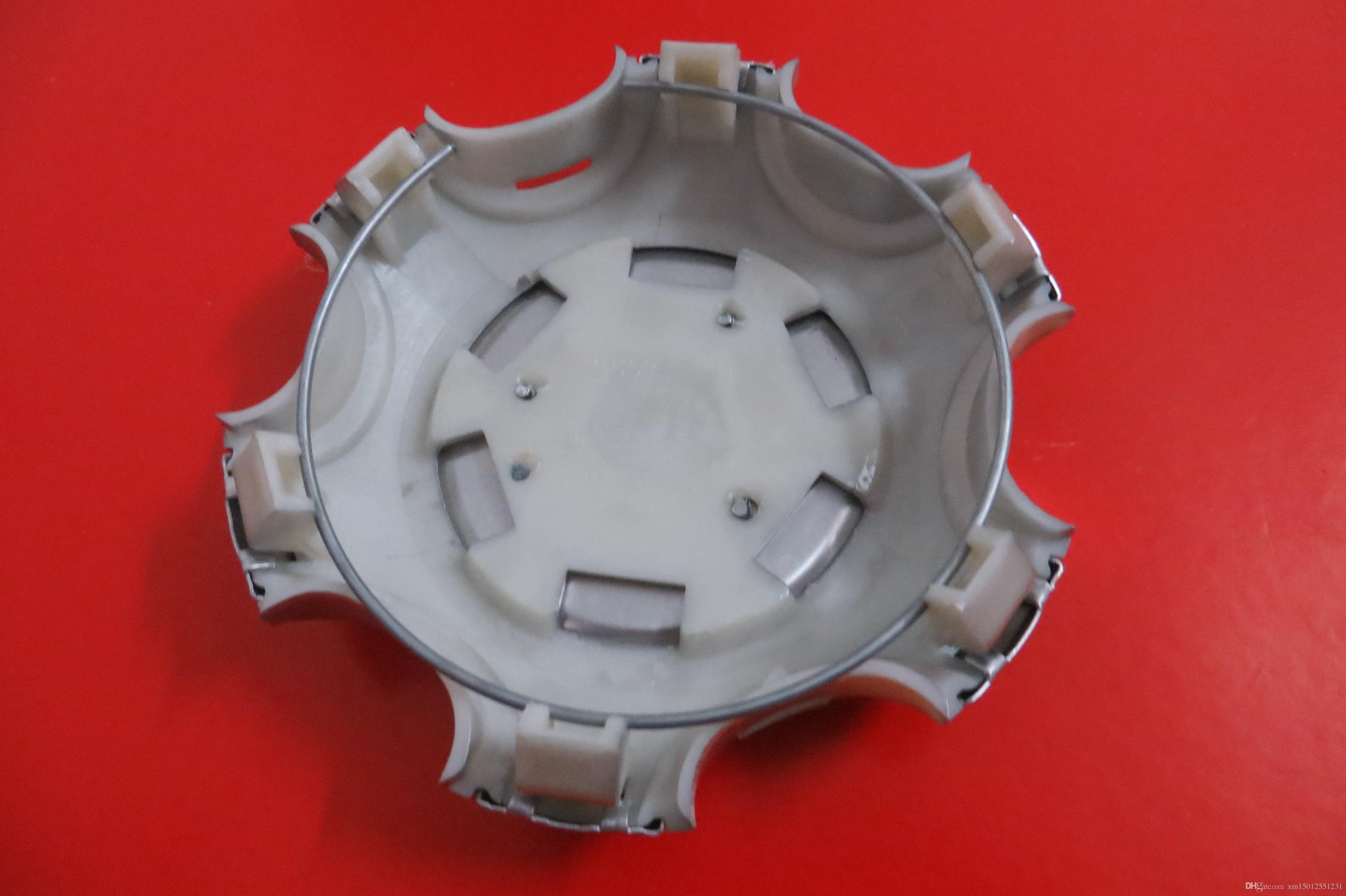 4 pz 135mm 95mm Argento Completa Chrome Ruota centro coprimozzo in lega coprimozzi Fit 2007-2013 Toyota Land Cruiser 4000 Prado 4.0L