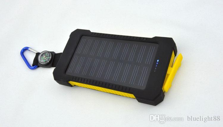 20000mAh 태양 광 전원 은행 2 USB 포트 충전기 외부 백업 배터리 Xiaomi Samsung 셀프폰에 대 한 소매 상자