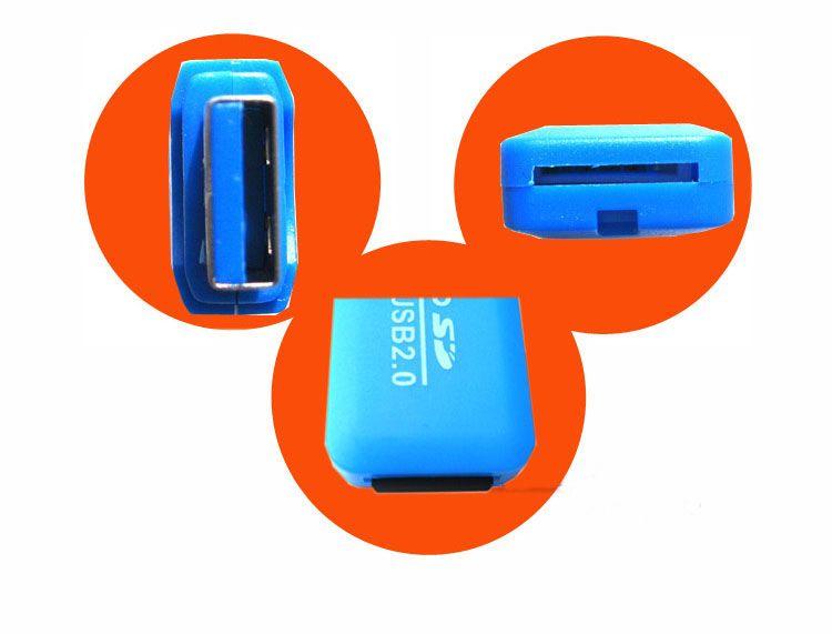 Lector de tarjetas de alta velocidad USB 2.0 Tarjeta Micro SD T-Flash TF M2 Adaptador de lector de memoria 2 gb 4 gb 8 gb 16 gb 32 gb 64 gb TF tarjeta DHL MQ1000