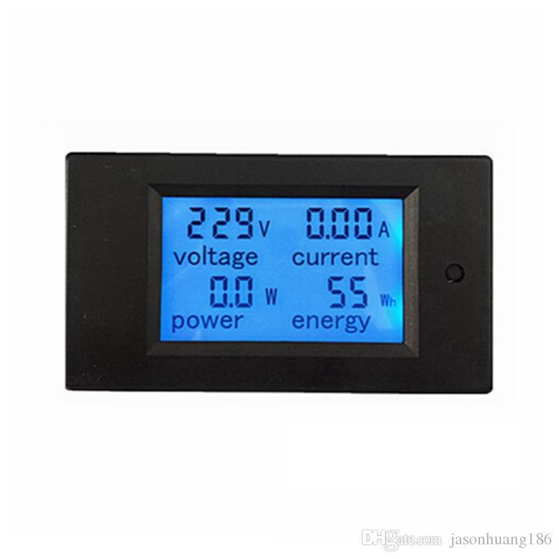 New LCD AC 80-260V/20A Voltmeter Ammeter Volt Ampere Power Energy Meter Gauge With Blue Backlight Data Storage Function