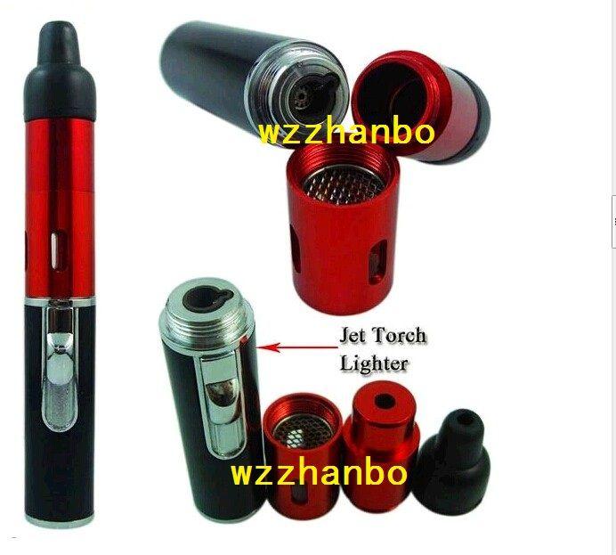 뜨거운 도매 클릭 N vape vape 증기 초본 기화기 흡연 파이프 트러블 불꽃 라이터 내장 풍력 증거 토치 라이터