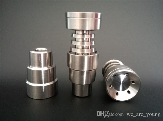 DHL Ücretsiz nakliye Evrensel Kubbesiz Titanyum Tırnak için uygun 14mm 18mm. GR2 Saf Titanyum Tırnak 4 In 1 Su Borusu Cam Bong için Sigara.